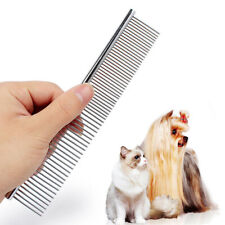 1pc Pet Dog Cat Pin Comb Stainless Steel Hair Shedding Puppy Grooming Flea Comb