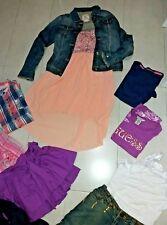 Lotto stock Girls anni 10/12 vestito giubbino jeans t-shirt guess gonna mayoral