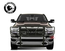 Black Horse 09-18 Ram 1500 Rugged Heavy Duty Black Grille Guard Push Bar LED BAR