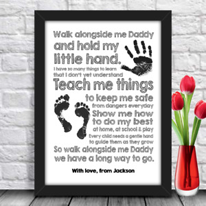 Birthday gift for Daddy, Dad or Father Personalised Keepsake Poem A4 size print