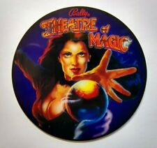 Bally Theatre Of Magic Pinball COASTER Promo Original NOS Plastic Lady Magician