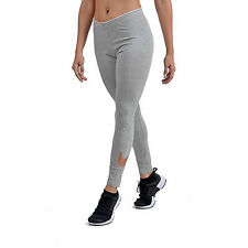 Womens Nike Club Logo 2 Gym Sports Workout Fitted Leggings Legging Grey Bronze