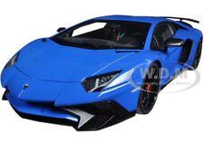 LAMBORGHINI AVENTADOR LP750-4 SV BLUE LE MANS/BLUE 1/18 MODEL BY AUTOART 74559
