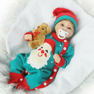 "Real Life 20"" Christmas Reborn Baby Girl Doll Newborn Size Kids Wear Model"