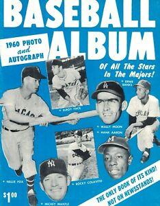 1960 Mickey Mantle, Hank Aaron - Baseball Album Magazine NICE!
