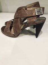Micheal Kors Brown Heels Size 8.5M Pre Owned Slightly Used In Good Condition