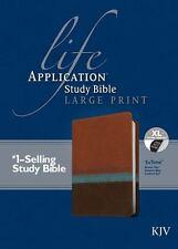 Life Application Study Bible KJV, Large Print (2014, Imitation Leather, Large...