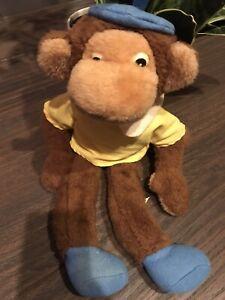 Vintage Babar Zephir Vintage  Monkey Eden Toys Stuffed Monkey