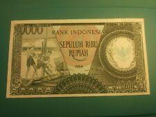 1964 INDONESIA 10000 RUPIAH PICK 101b BANKNOTE  AUNC