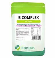 Lindens 100 Vitamin B-Komplex Tabletten B1, B2, B3, B5, B6, B9, B12, Folsäure