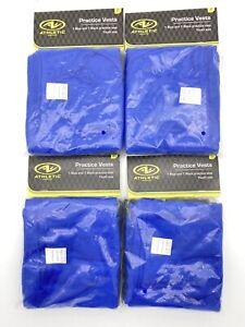 Lot Of 4 Athletic Works Practice Vest 2 Packs Youth Size 1 Blue 1 Black Per Pk.