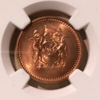 1970 RHODESIA CENT NGC MS 65 RD