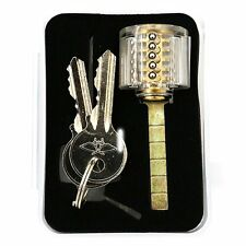 Visible Cutaway Lock Locksmith Practice and Training Kit 5 Pin Brass Cylinder