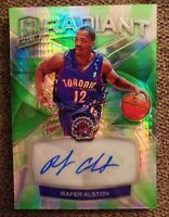 2018-19 Panini Spectra Radiant GREEN PRIZM AUTO  Rafer Alston 01/49 Raptors