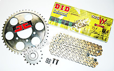 Honda CBR600F 2002 to 2007 DID Upgrade Gold X-Ring Chain & JT Sprockets Kit Set