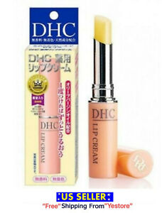 DHC medicated Lip Cream Olive Oil Aloe Vitamin E Lip Balm Lipstick JAPAN 1.5g