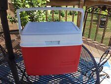 New listing Vintage Rubbermaid Cooler Red/White Gott 10 Quart Ice Chest Model #1910