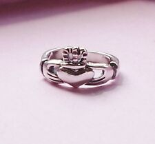 Claddagh Irish Symbol Toe Ring Sterling Silver
