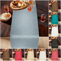 """Luxury Jacquard Table Runner 13x72"""" Rectangle Table Cover Wipe Clean Table Cloth"""