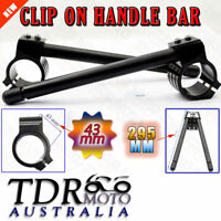 43mm CNC Black Clip-On Ons Handlebar for Triumph Daytona 600 2003-2004