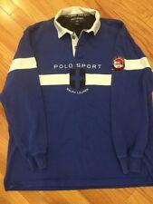 Vintage Polo Sport Ralph Lauren Arctic Challenge Rugby Shirt Men's Large L USA