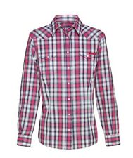 Checked Long Sleeve Button Down Shirts for Women