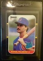 1987 DONRUSS #43 RAFAEL PALMEIRO ROOKIE CARD RC GEM MINT FROM FACTORY SET CUBS