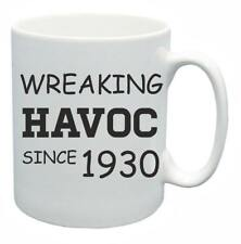 88th Novelty Birthday Gift Present Tea Mug Wreaking Havoc Since 1930 Coffee Cup