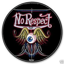 Motor Cult Custom Hot Rod Eye Wing Pin Stripe No Respect Sign Blechschild Schild