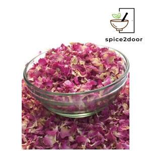ROSE PETALS - EDIBLE & DRIED PREMIUM QUALITY! SELECT SIZE SAMPLE - 1KG FREE P&P