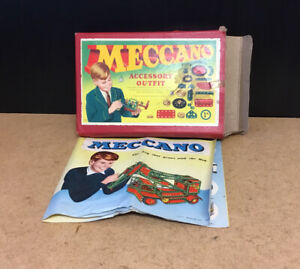 OLD VINTAGE MECCANO 1A BOX INCOMPLETE SET AND INSTRUCTIONS