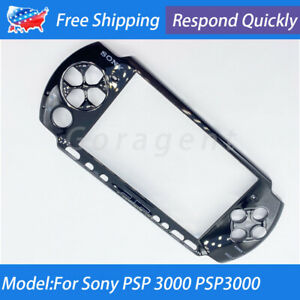 For Sony PSP 3000 PSP3000 Black Front Faceplate Housing Case Shell Cover Part