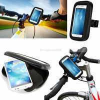 For Mobile Phones Rotating Bicycle Bike Mount Handle Bar Holder Waterproof Case