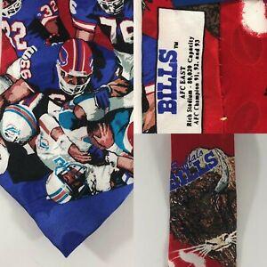 Team NFL Buffalo Bills Vs. Miami Dolphins VTG AFC East Silk Neck Tie B63456 Rare