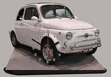 VOITURE ITALIENNE FIAT 500 BLANC-03 EN HORLOGE MINIATURE