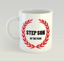 Step Son Of The Year Funny Mug Gift Novelty Humour Birthday Stepson