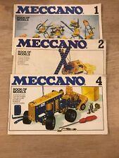 Vintage Original 1978 Meccano Set Of 3 Books of Models 1,2 And 4