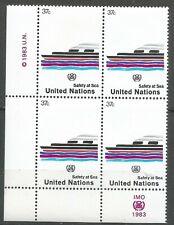 Nations Unies Bloc de 4 YT: 386 neufs ★★ Luxe 1983 / MNH BDF