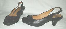 Fabulous Cute Black SOFFT Size 7 M Slingback Kitten Heel Shoes