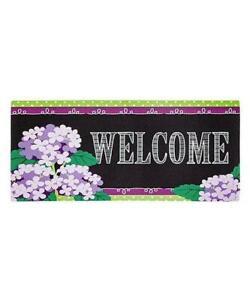 Purple Hydrangea Welcome switch mat