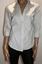 Millers Brand White Striped 3/4 Sleeve Shirt Top Size 10 BNWT #SO19