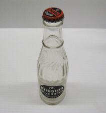 Mission Orange Canadian Soda Pop Cola Bottle 6-1/2 FL OZ with cap