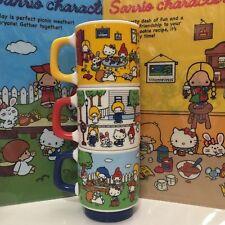 2016 NEW Sanrio CHARACTERS stackable mug set: school bus, garden park, play