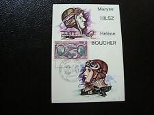 FRANCE - carte 1er jour 10/6/1972 (maryse hilsz-helene boucher) (CY17) french