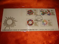 Singapore 1971 Commonwealth Heads of Government Meeting, 4v FDC