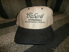 Men's Caberet Internationale Baseball Hat Cap  with adjustable clip back