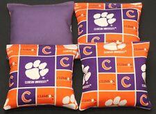 Clemson Tigers Cornhole Bean Bags Baggo Toss Tailgate Game 4 Aca Reg Bags New!