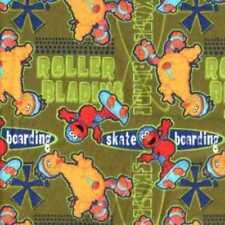 Spectrix ~ Sesame Street ~ ELMO & BIG BIRD ~ 100% Cotton FLANNEL fabric BTY