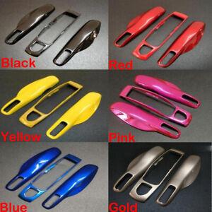 3Pcs/set Remote Key Cover Case Shell Fob Trim For Porsche Panamera Cayenne Macan