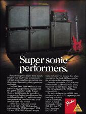 Fender BXR Series Bass Guitar Amps 1988 ad 8 x 11 amplifier advertisement print